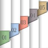 Carta vettoriale numerati banner — Vettoriale Stock