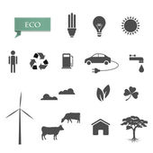 Vector collection of eco-icons — Stock Vector