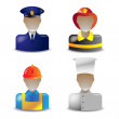 Vector set 1 of glass icons occupations — Image vectorielle