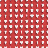 Seamless sfondo rosso con cuori di carta — Vettoriale Stock