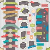Grande conjunto de elementos de design retro e bolhas do discurso — Vetorial Stock
