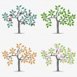 Seasonal trees — Vector de stock #25057975