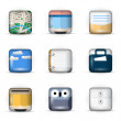 Vector set of 3D App Icons — Stock Vector #25634111
