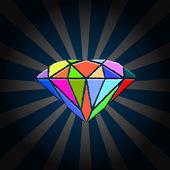 Creative Diamond — Stock Vector