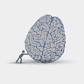 Creative illustration of intellection — Stock Vector