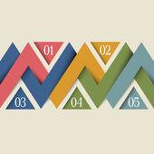 Vector minimal infographics design — Stock Vector