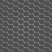3d monochromatic honeycomb pattern background — Stock Vector