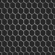 Monochromatic honeycomb seamless pattern background — Stock Vector