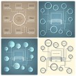 Set of vector creative web design templates — Stock Vector