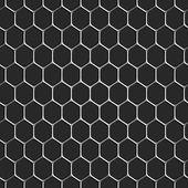 Monochromatic honeycomb seamless pattern background — Stock Vector