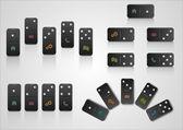 Satz von kreatives webdesign mit domino-blöcke — Stockvektor