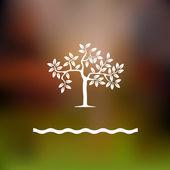Stilize ağaç — Stok Vektör