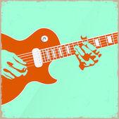 創造的なギター プレーヤー — ストックベクタ