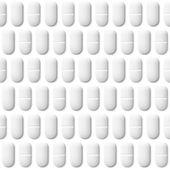Medicinsk seamless mönster med piller — Stockvektor