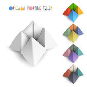 Colorful origami Fortune Teller — Stock Vector