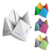 Origami Fortune Tellers — Stock Vector