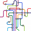 Colorful abstract subway map — Stock Vector