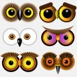 Eyes of owls — Vettoriale Stock