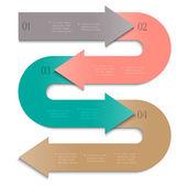 Geometrische abstracte vorm voor ontwerp — Stockvector