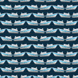 Pattern with yachts — Stock Vector