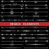 Set of calligraphic borders — Stock Vector