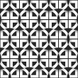 Geometric seamless pattern of black and white circles — Stock Vector