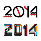 Design happy new year 2014 — Stock Vector