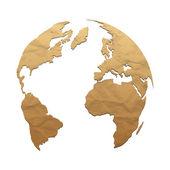Relief world globe — Stock Vector