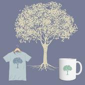 Silhouette tree — Stock Vector