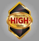 High quality product label — Stock Vector