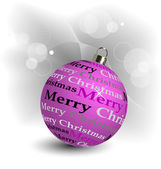 Stylized Christmas ball illustration — Stock Vector