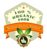 Vector natural product label — Stock Vector