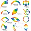 Постер, плакат: Rainbow logo vector collection