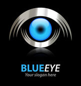 Blue eye vector logo — Stock Vector