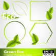 Stock Vector: Green ecology design elements