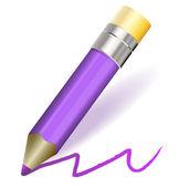 Vektorové fialová tužka — Stock vektor