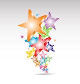 Candy stars logo/background — Stockvektor