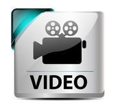 Video download button/icon — Stock Vector