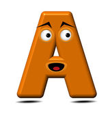 Funny alphabet-letter A — Stock Vector