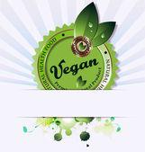 素食主义者背景的插图 — 图库照片