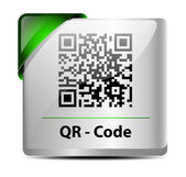 QR Code icon/label — Stock Vector
