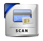Scan button/icon — Stock Vector