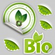 Organic Food, Eco, Bio Labels and Elements — Vector de stock
