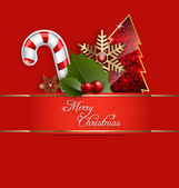 A Merry Christmas Background — Stock Vector