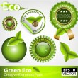 Green ecofriendly design elements — Stock Vector #15895767