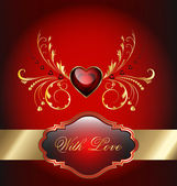 Valentines day celebration card — Stock Vector
