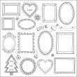 Stock Vector: Set of doodle frames and elements