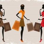 妇女购物 — 图库矢量图片