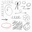 Set of hand drawn elements. — Stock Vector
