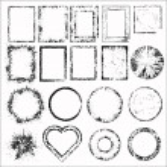 Set of grunge frames. Vector illustration — Stock Vector